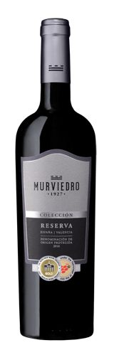 Murviedro Colección Reserva se elabora con tres variedades de uva: Tempranillo, Monastrell y Cabernet Sauvignon.
