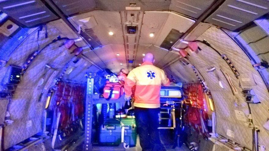 Luftwaffe fliegt Notfallpatientin von Mallorca nach Barcelona