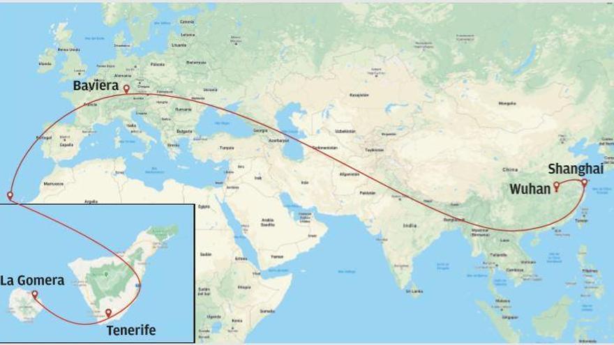 De Wuhan a Hermigua en 15 días
