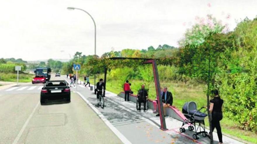 Tui contará con una ruta peatonal y una vía ciclista en la Veiga do Louro