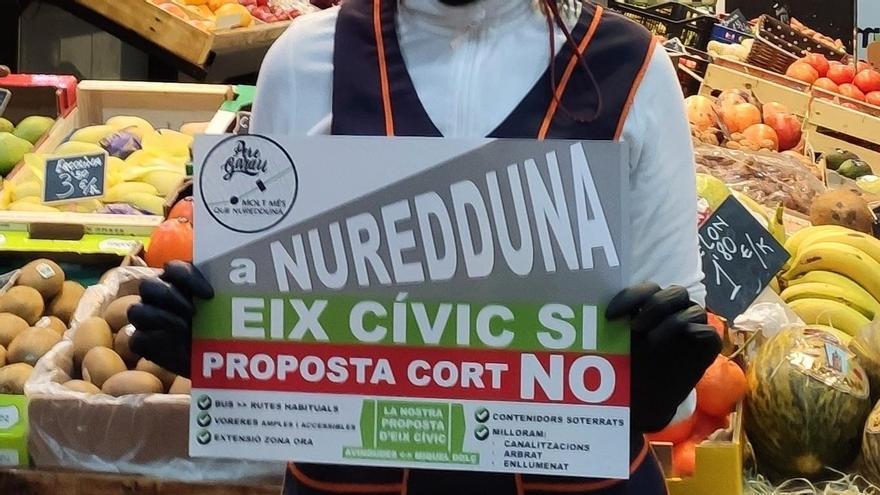 Reparten carteles en defensa de un eje cívico diferente para Nuredduna