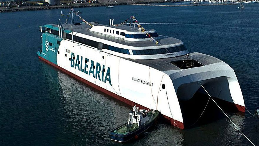 Baleària incorpora el primer 'fast ferry' del mundo con motores a gas