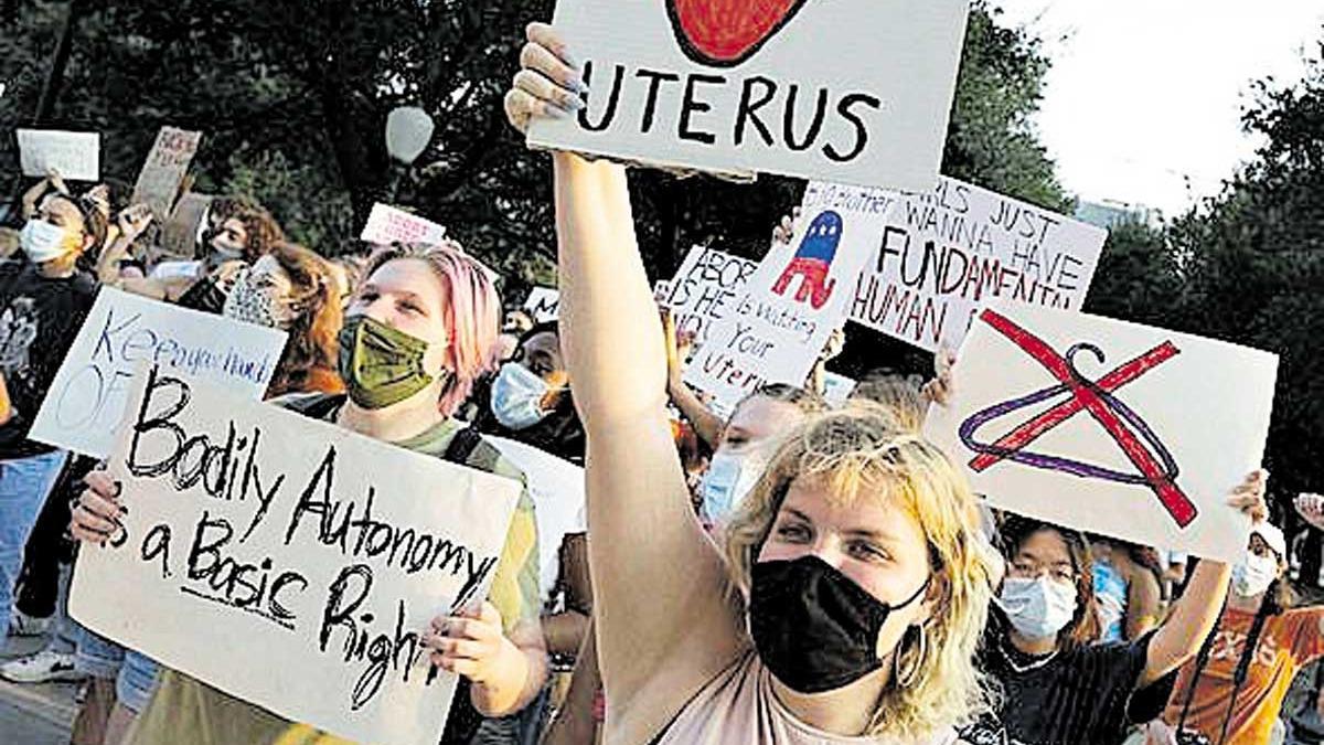 Protesta contra la aprobación de la ley en el estado de Texas.