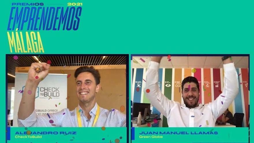 CheckToBuild y Green Globe ganan los Premios Emprendemos de Málaga