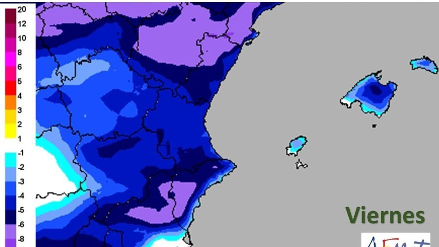Tiempo en València: Bajada drástica de las temperaturas y rachas de viento entre 80 y 100km
