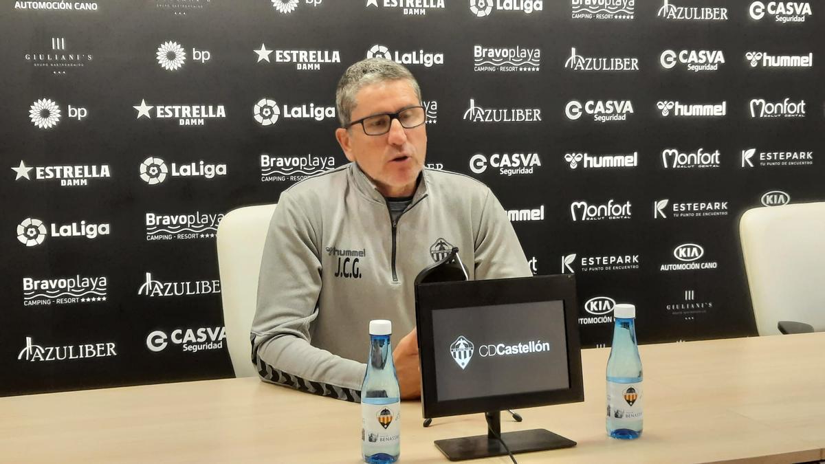 Juan Carlos Garrido, en la sala de prensa de Castalia.