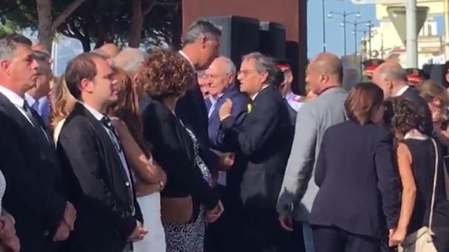 Tensió entre Torra i García Albiol a Cambrils