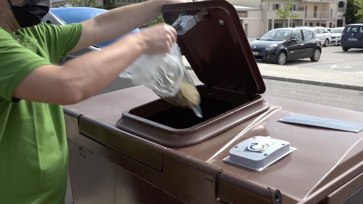 Contenedor de basura de Capdepera.