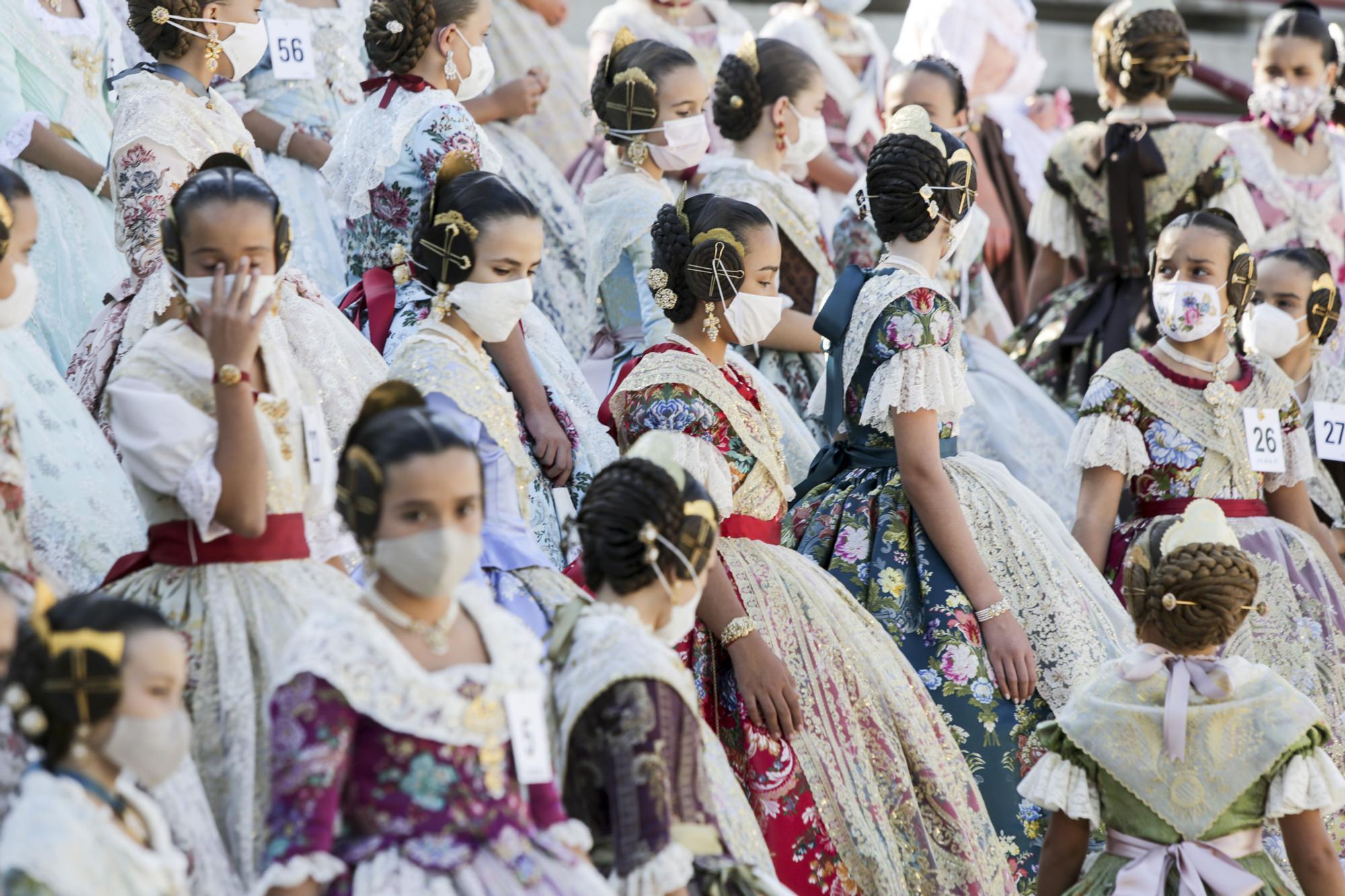 La foto oficial de las aspirantes a fallera mayor infantil de València