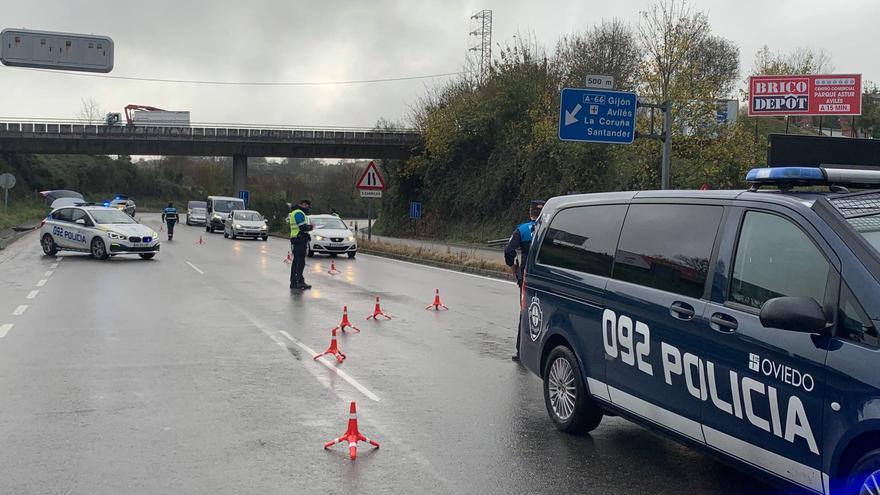 La Policía Local impone once sanciones en el primer día del cierre perimetral de Oviedo