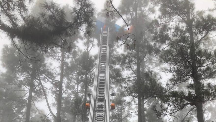 Rescatan a un parapentista colgado de un pino en Tenerife