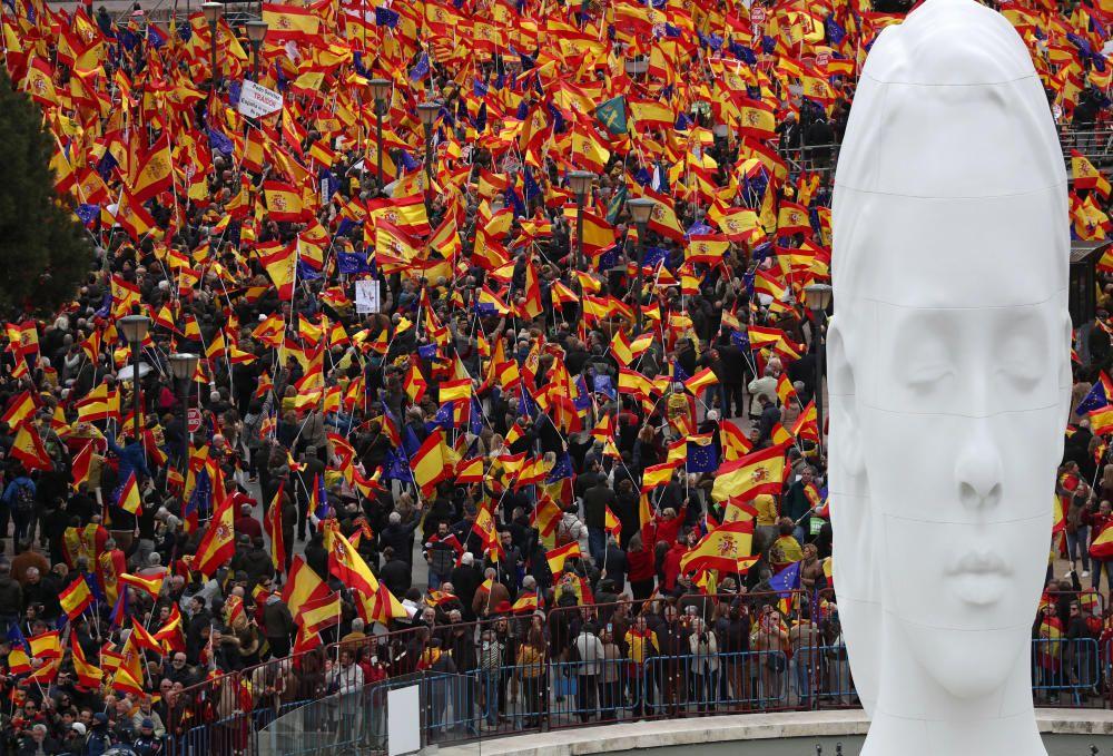 Concentració a favor d'una «Espanya unida» a Madrid