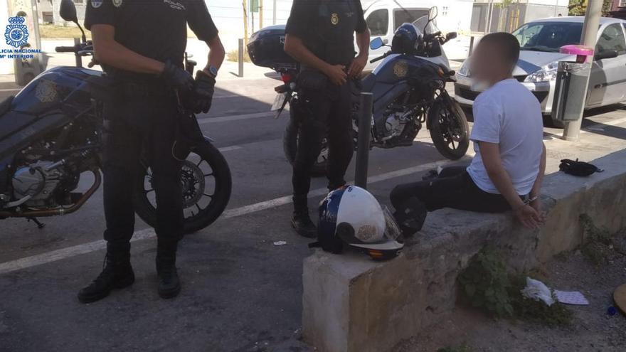 Detenido en Palma con dos kilos de marihuana en una bolsa de basura