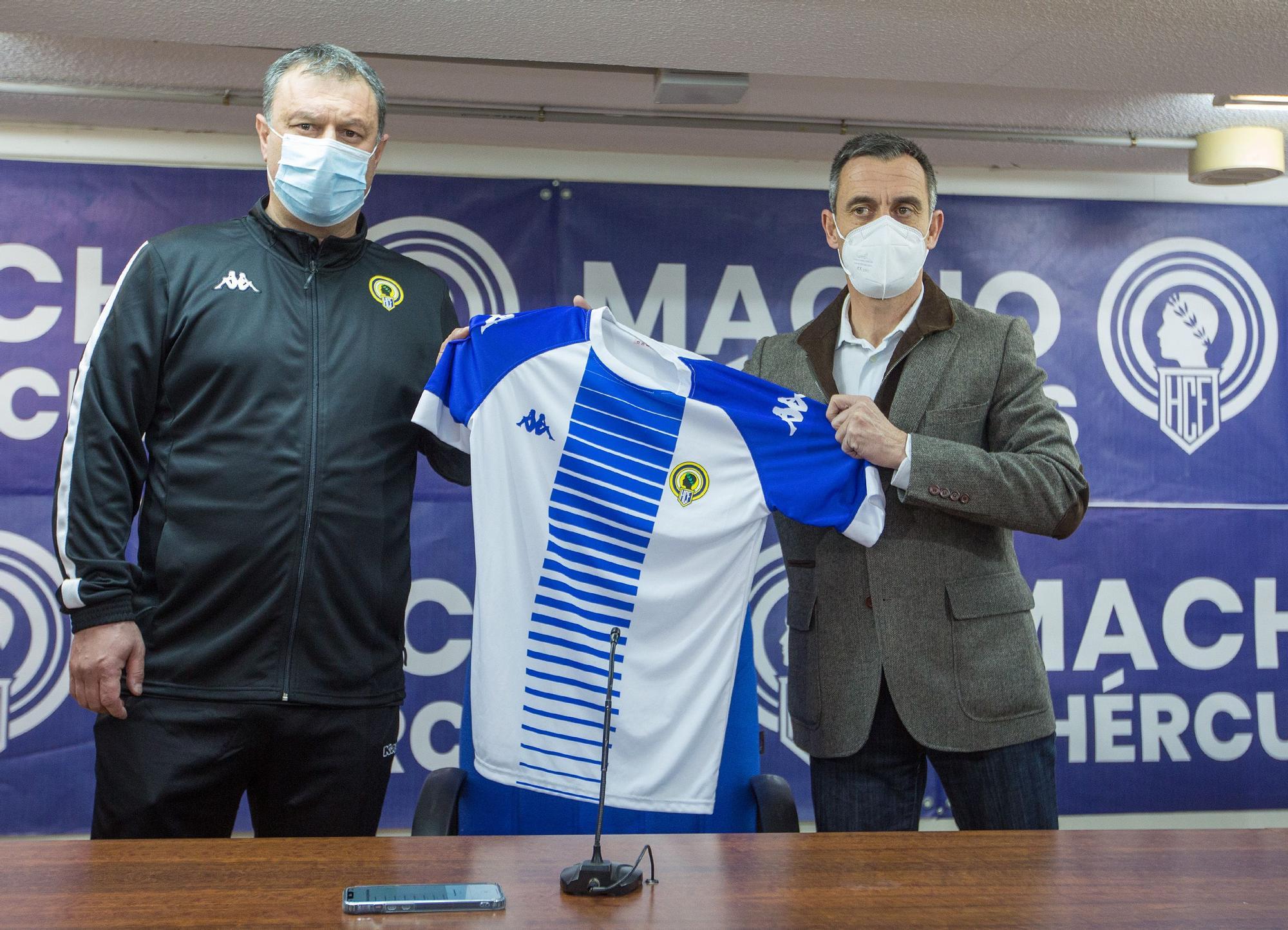 Presentación de Manolo Díaz como nuevo técnico del Hércules
