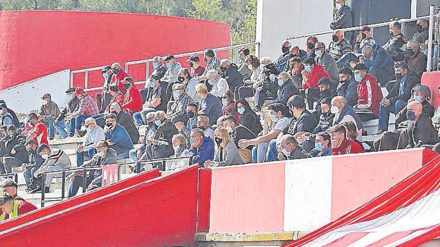 La presència d'aficionats a les grades va ser notable el dia del retorn del públic