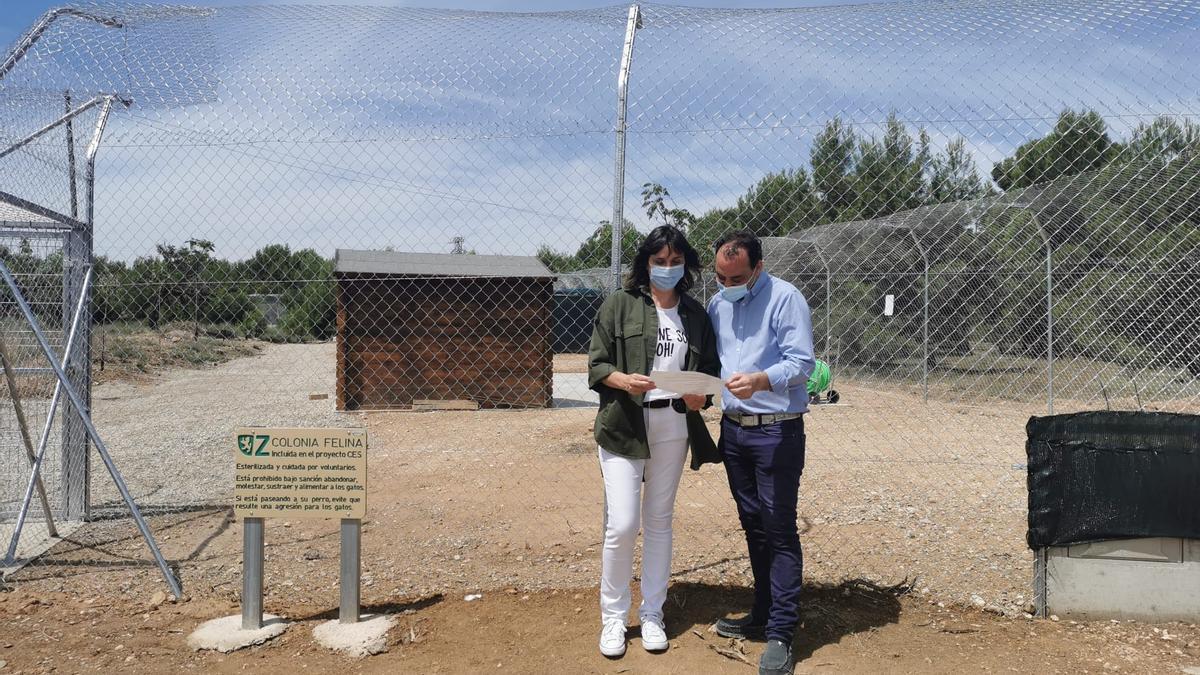 La concejala del PSOE, Lola Ranera, en las instalaciones de El Guano.