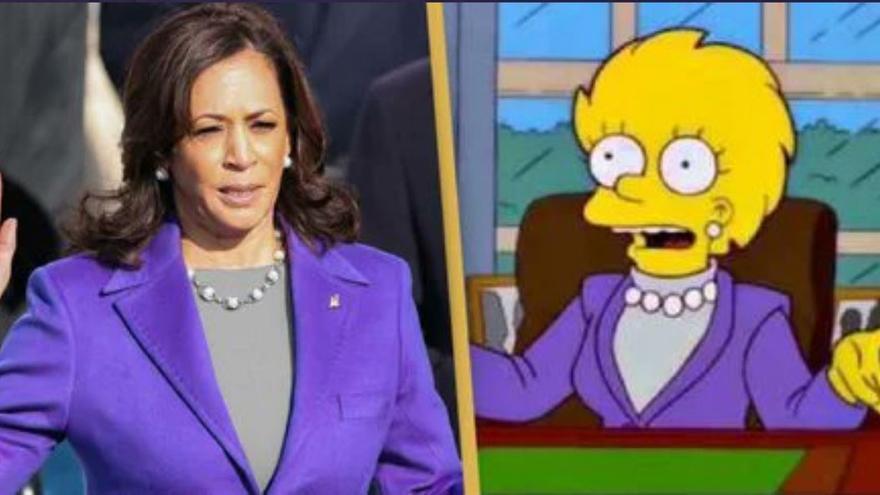 Otra predicción de Los Simpsons: Kamala Harris y la presidenta Lisa
