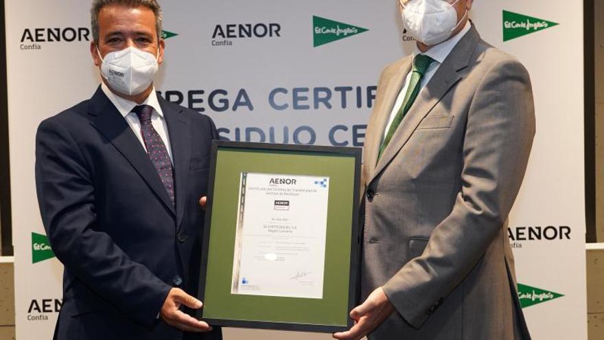 EL CORTE INGLÉS obtiene la certificación 'residuo cero'