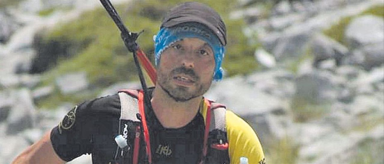 Sergio Fernández, durante la Travesera Integral Picos de Europa
