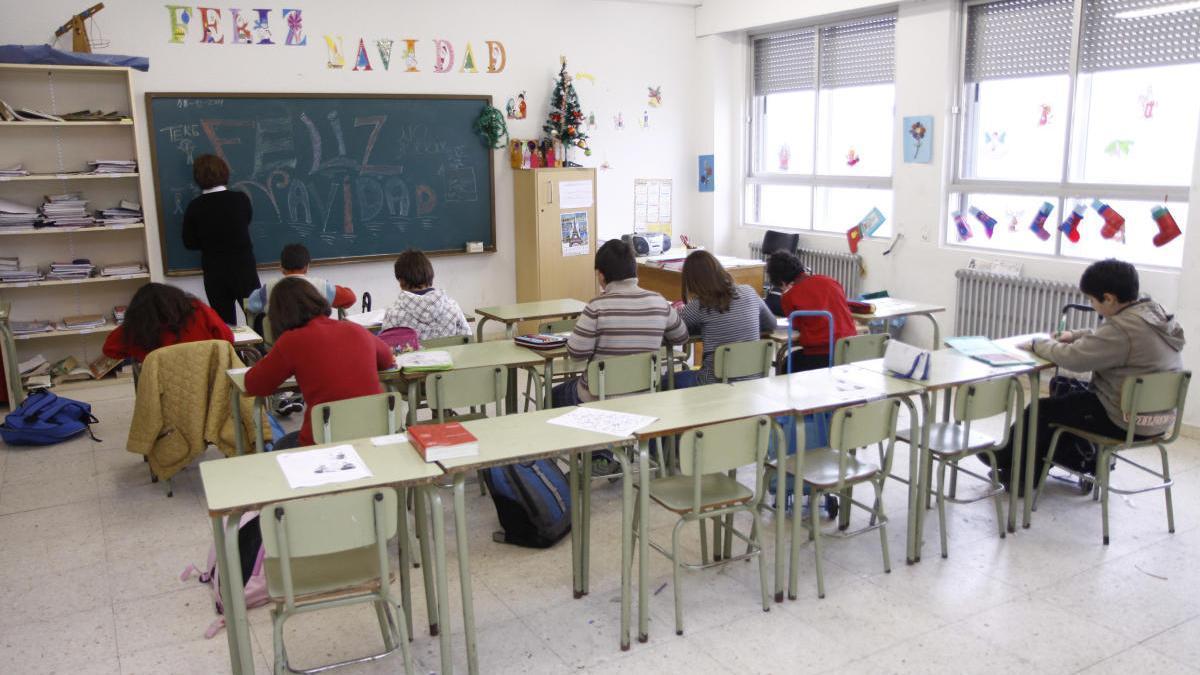 Un aula del CRA de Gema.
