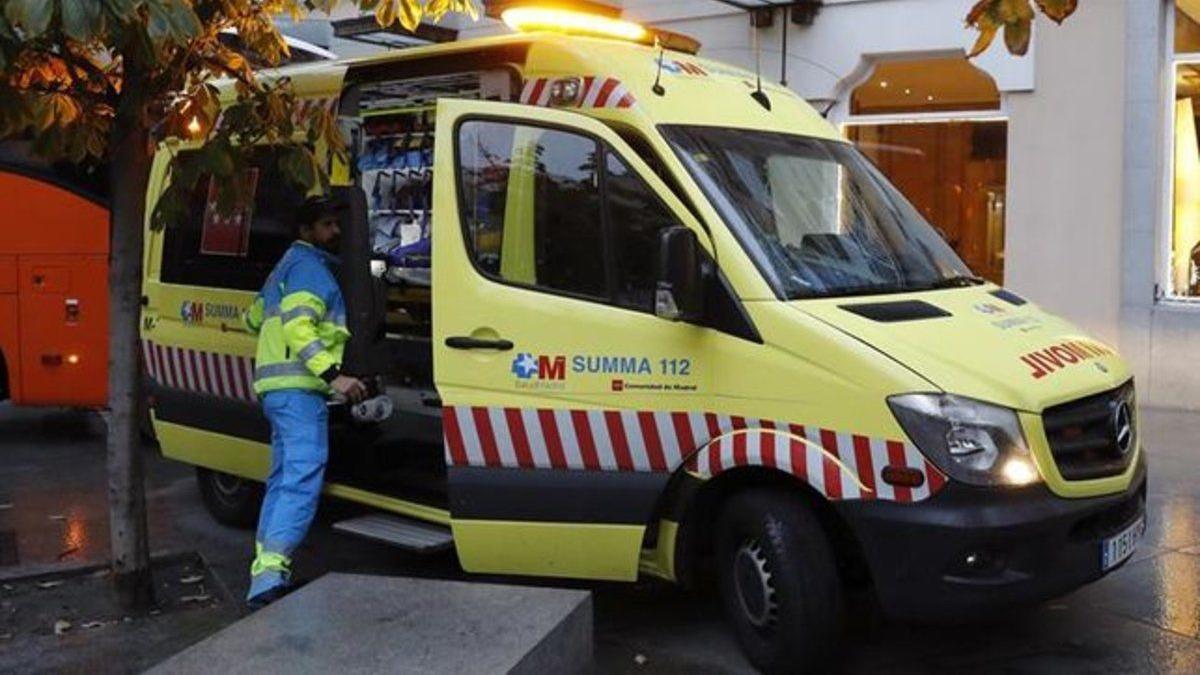 Un vehicle del SUMMA de Madrid