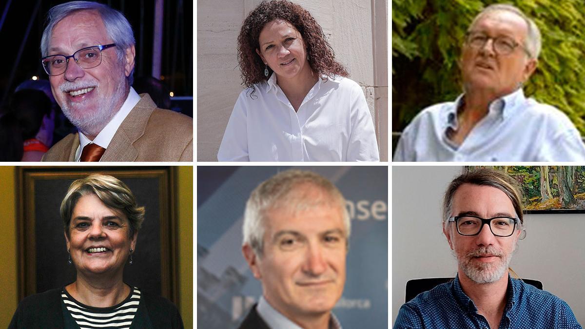 Joan Riera, Catalina Cladera, Fernando Fortuny, Lluïsa Dubon, Miquel Vadell y Antoni Marí
