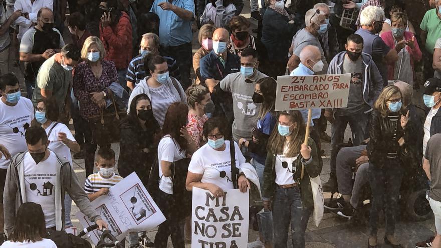 Afectados por las demoliciones en O Hío convocan una manifestación para el domingo