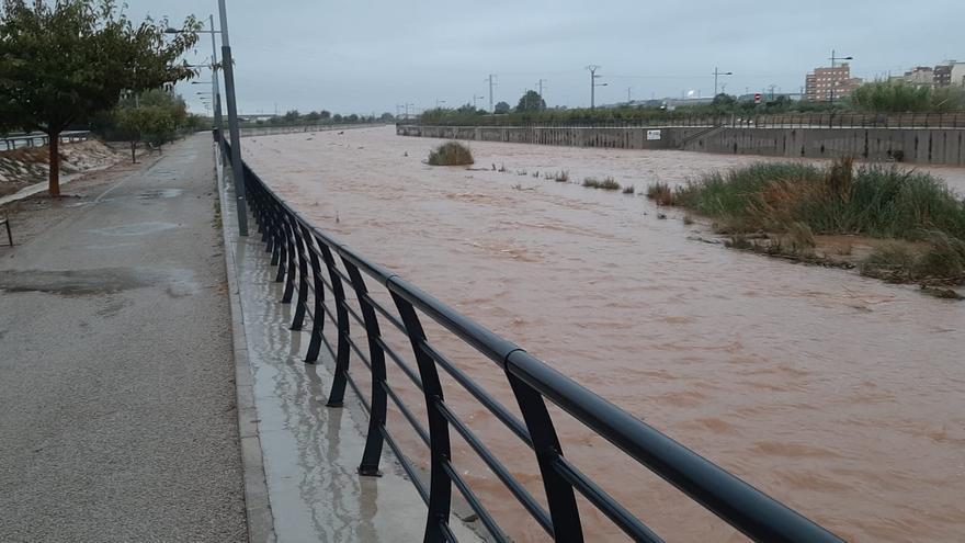 Tormentas en Valencia: Así han dejado las lluvias el barranco del Tramusser en Almussafes