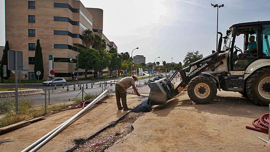 Las obras de los dos parking del Reina Sofía tardarán varias semanas más