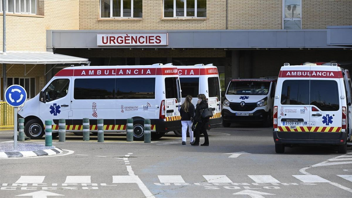 Imagen de la entrada a urgencias del Hospital General de Castelló.