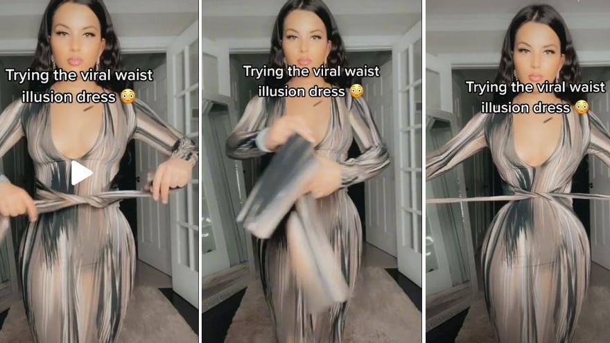 El vestido con ilusión óptica que te deja una cintura de avispa