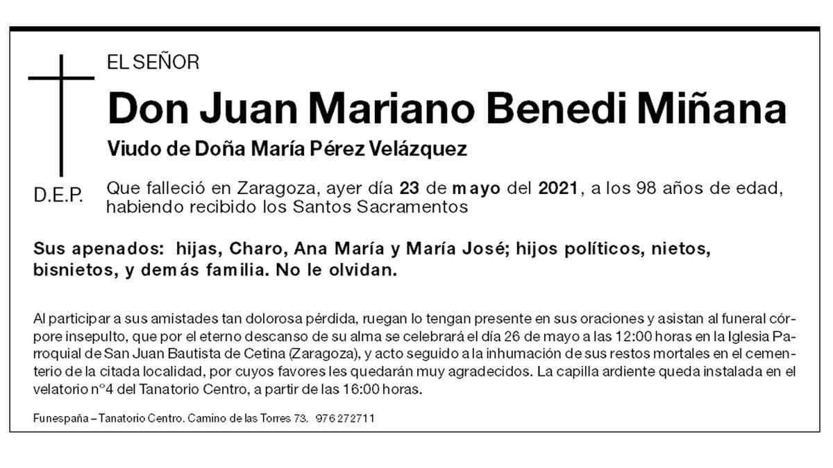 Juan Mariano Benedi Miñana
