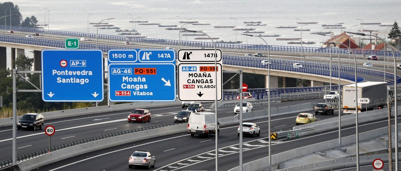 Ir y volver entre Vigo y Santiago por la AP-9 costará hasta 9'5 euros menos