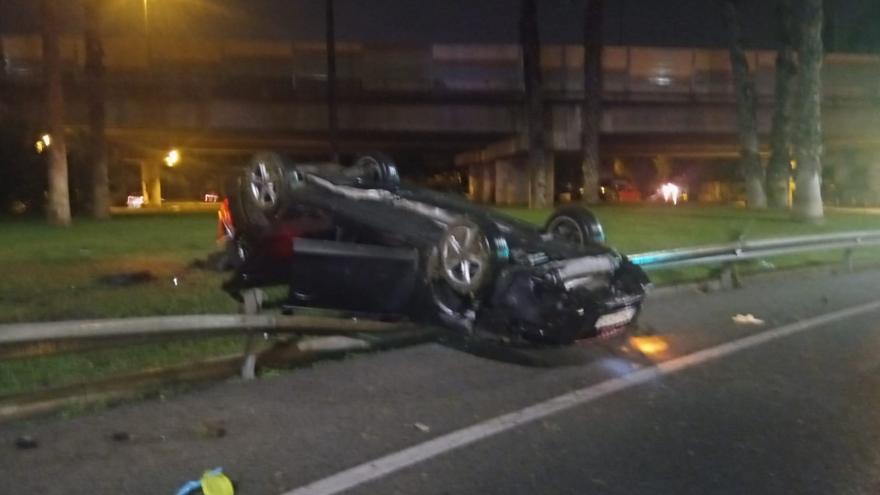 Así quedó un coche en Murcia tras un accidente