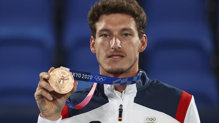 Pablo Carreño ya luce con orgullo su medalla de bronce