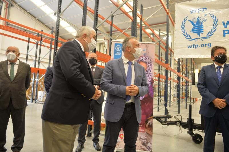 Torres visita la base del Programa Mundial de Alimentos