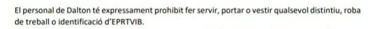 El polémico texto que les prohíbe utilizar distintivos de IB3 a los trabajadores de la televisión pública.