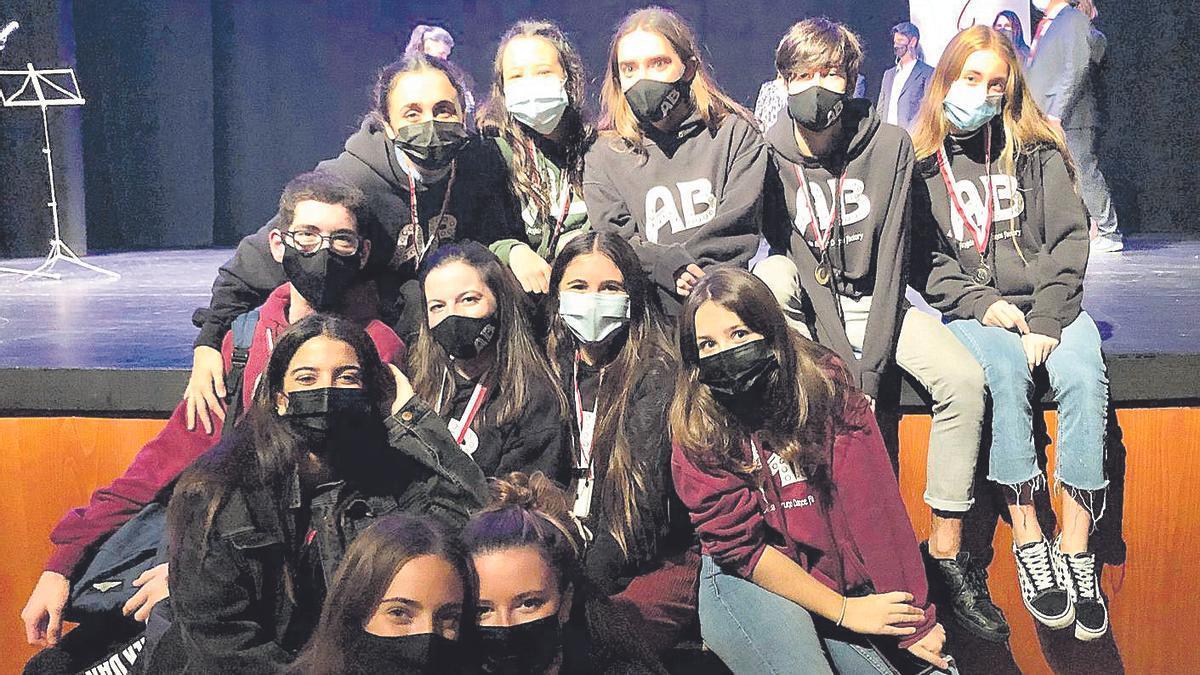 Alumnos de la escuela Ángela Bruno.