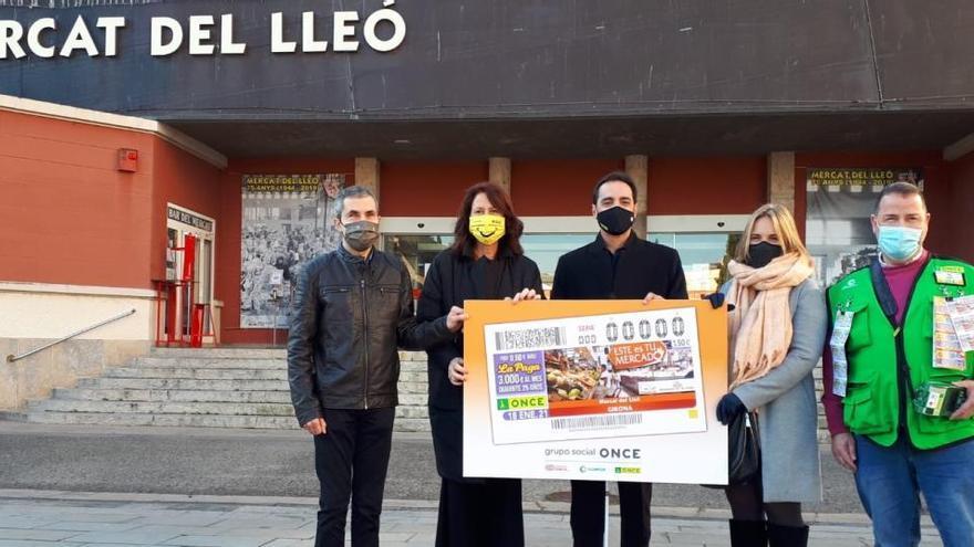 El Mercat del Lleó de Girona, present en 5,5 milions de cupons de l'ONCE