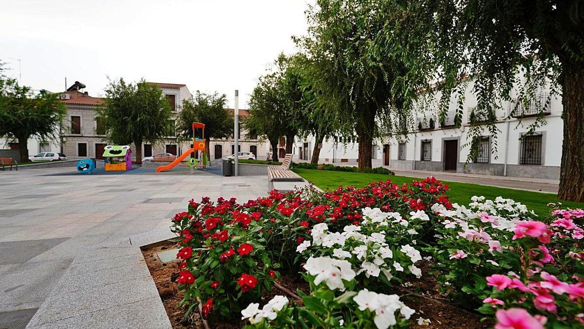 La plaza de la Asunción de Pozoblanco, tras su remodelación.