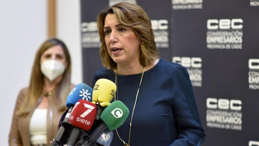 """Susana Díaz: """"¿Hay que esperar al informativo de la noche para conocer las medidas?"""""""