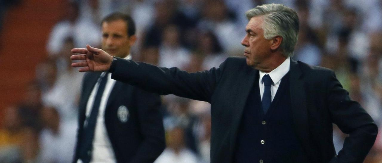 Carlo Ancelotti, durante su etapa en el Real Madrid