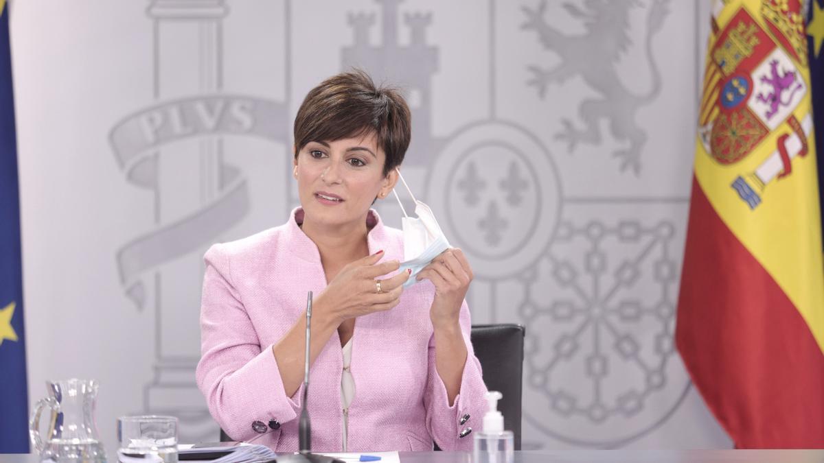 La ministra Portavoz y ministra de Política Territorial, Isabel Rodríguez.