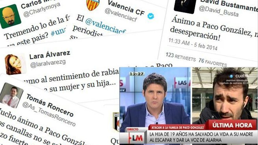 El periodismo español, en shock por la agresión a la familia de Paco González