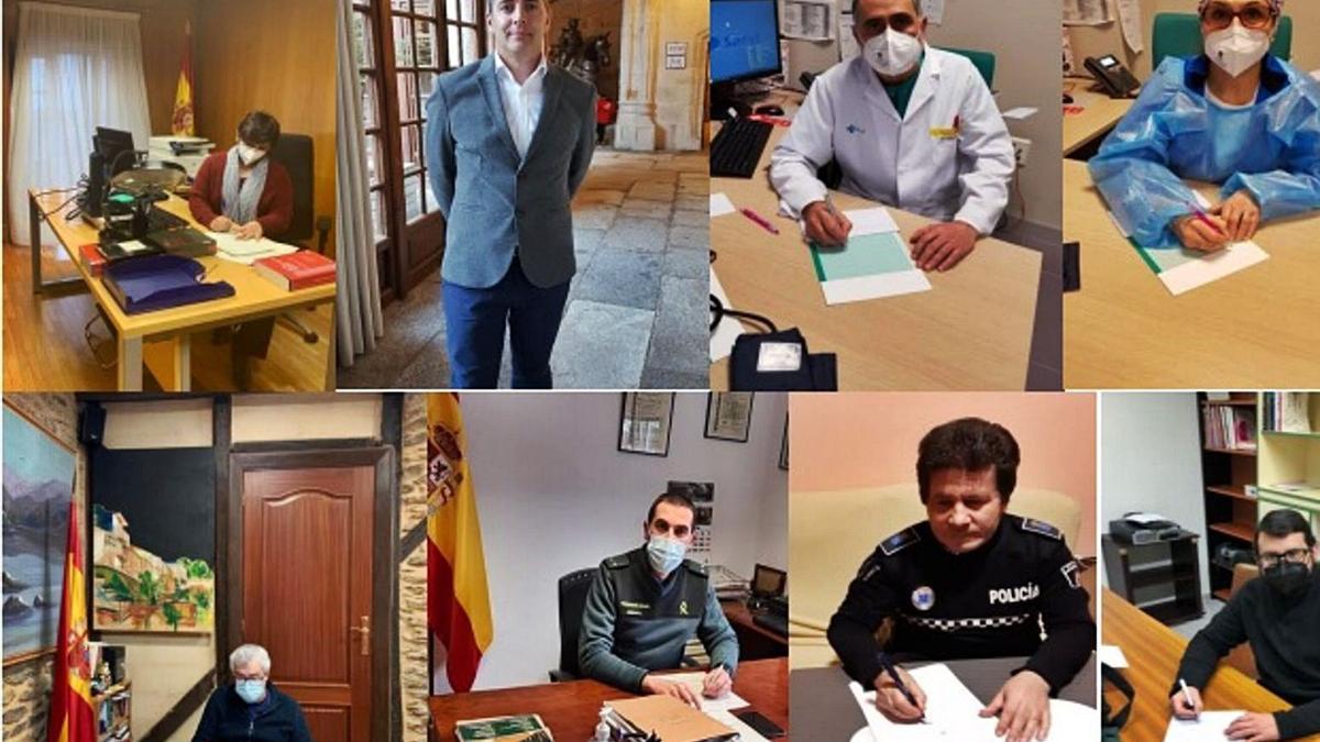 Autoridades y personalidades de Sanabria firman el manifiesto de la AECC por un gran acuerdo contra el cáncer.   A. S.