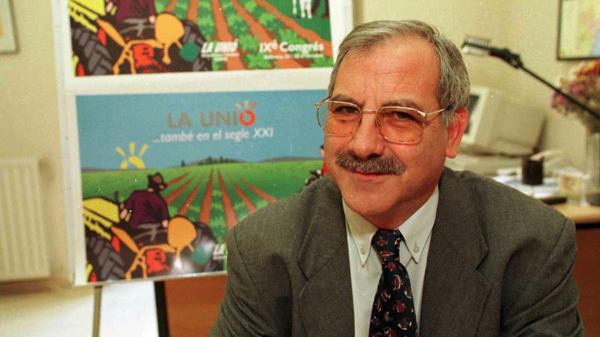 Miquel Vilalta fallecido este sábado fue secretario general de la Unió de Llauradors i Ramaders