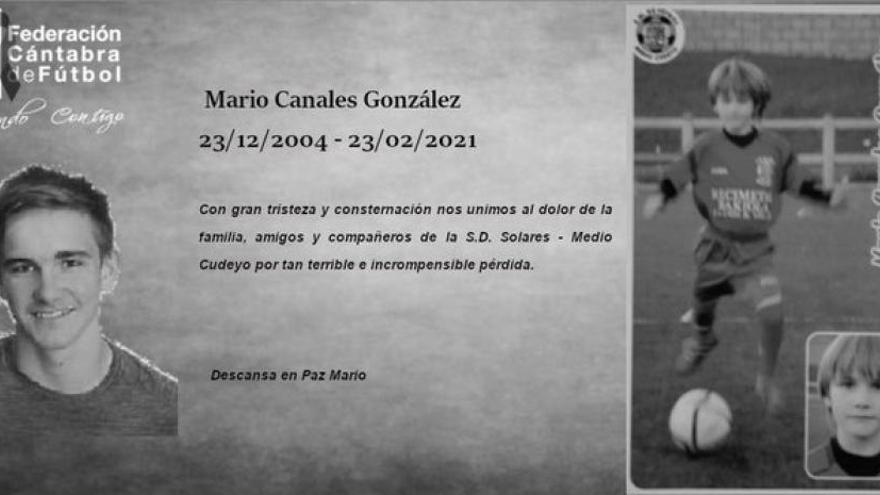 Muere un futbolista de 16 años