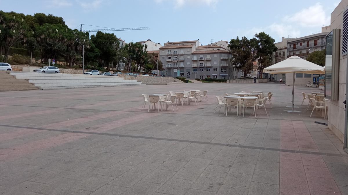 Una imagen de la plaza de la Constitución de Xàbia
