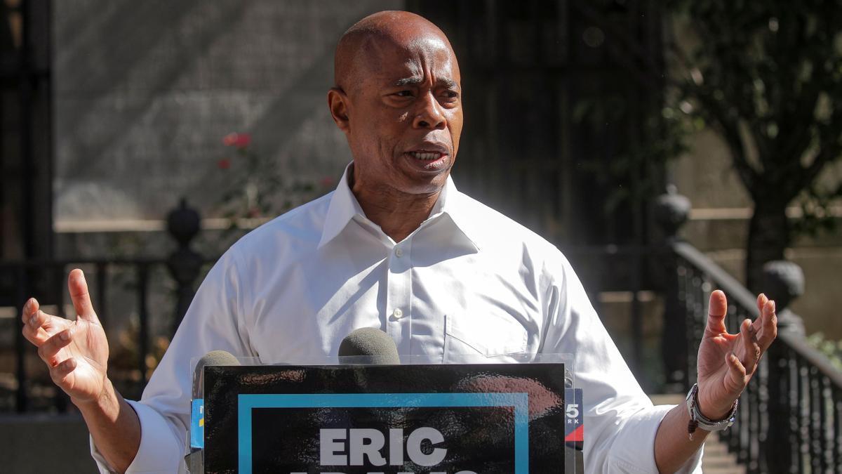 Eric Adams habla durante una rueda de prensa en Brooklyn, el pasado 24 de junio.