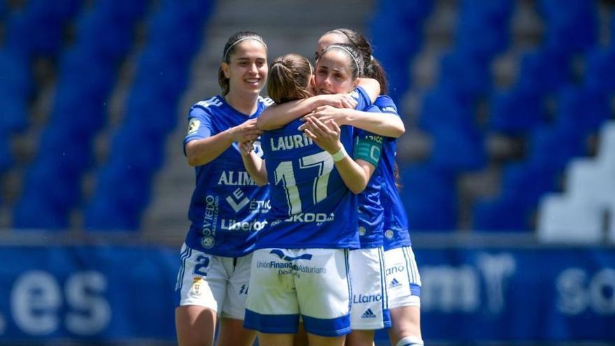 Un doblete para la historia: Laurina da la victoria al Oviedo Femenino en el Tartiere